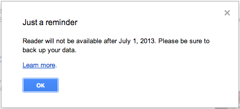 Farewell Google Reader